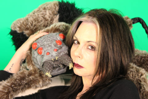 Lisa Derrick with her house pet